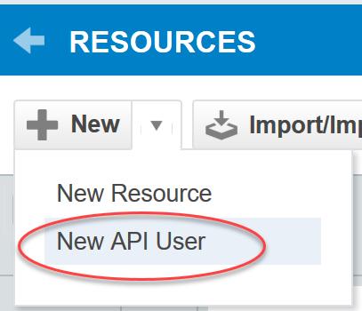 New API user