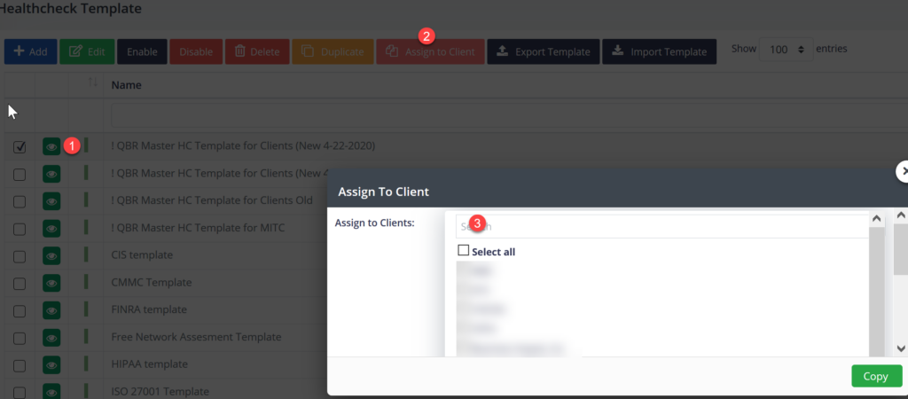 Assign To Client pane.