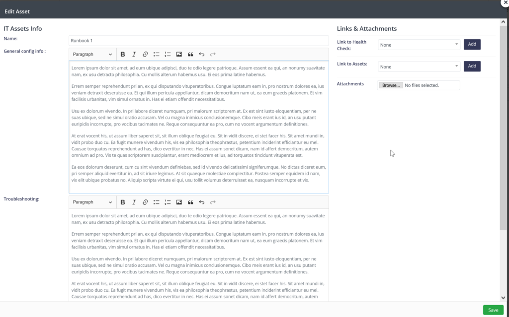 Narmada | edit asset screen